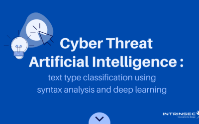 Cyber Threat Artificial Intelligence: text type classification using syntax analysis and deep learning